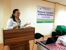 OIC-Director Maria Lydia A. Echavez in her Welcome Address.