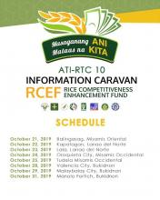 Info Caravan schedule for the month of October.