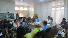 Participants of the training on dialogue with Mayor Rommel Arnado