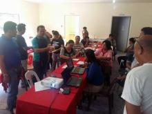 The participants during the processing of their outputs.