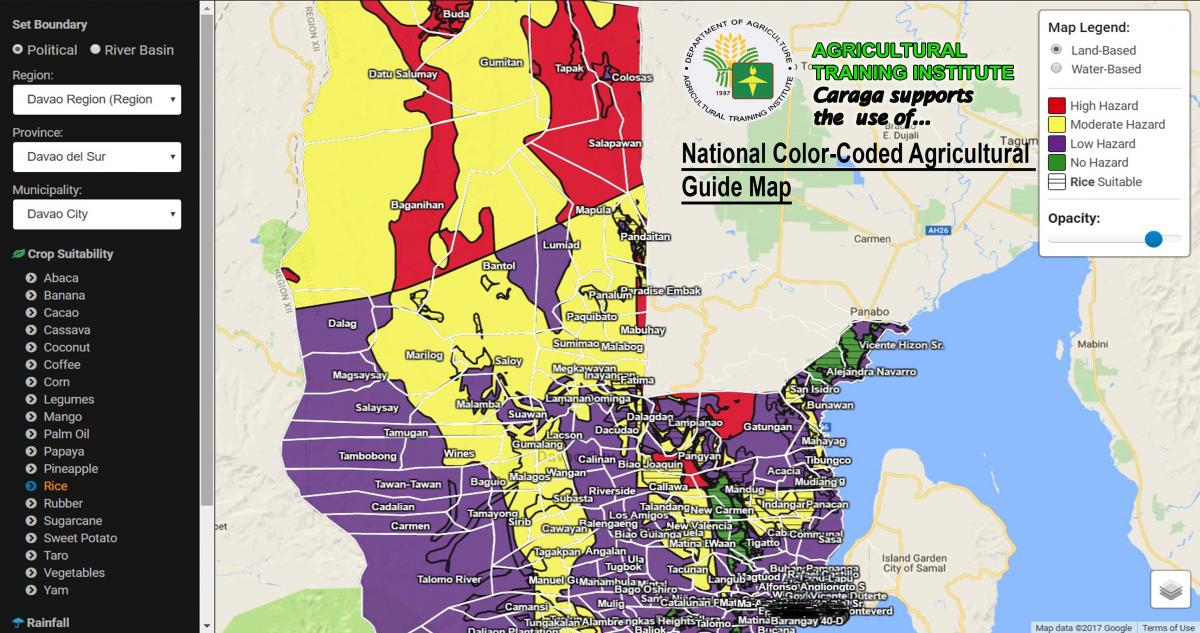 National Color-Coded Agricultural Guide Map