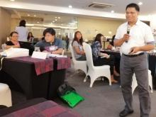 Dr. Andrew D. Gasmen, UPLB discusses agricultural extension approaches, methods and strategies on the 4th day of the EDS course at Sequoia Hotel, Quezon City.