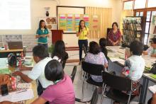 Speakers from PAGASA during their discussions on weather information