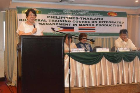Dr. Luz Taposok promotes the practice of IPM during the Philippines-Thailand Bilateral Training Course at Bayview Hotel