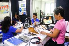 ATI-RTC VI Information Officer II Florepe Mortalla takes the helm as the main anchor for this year's School on the Air on Sustainable Mushroom Production enterprise to be aired over RMN DyKR Kalibo from March 4 until June 24, 2018 every Sunday from 12 NN to 1 PM.