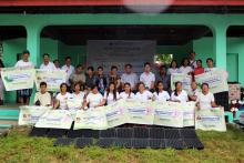 A total of 20 farmers of Brgy. Cabatanga were awarded with initial inputs to jumpstart the establishment of PalaYamanan Plus project site.
