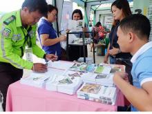 ISS Staff from the region facilitated the IEC materials distribution