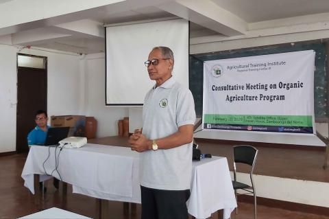 Mr. Adelberto B. Baniqued, National Organic Agriculture Board (NOAB) Small Farmer Representative for Mindanao gave his message and noted the importance of road mapping of the Organic Agriculture Program.