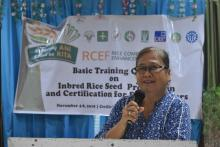 Ms. Gliceria Bagaforo-OIC Chief of the BPI NSQCS IX presented and discussed the Mechanics, Policies, and guidelines on Seed Certification.
