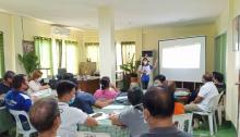 DA-RFO 9 Regional Information Officer Ms. Yvette Avellaneda, presented the strategies for the implementation of SOA-SRA during the meeting with the Municipal Agriculturists and Technicians.