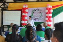 Ms. Evangeline G. Luceῆo discussed Health and Wellness during the Seminar on Wheels.