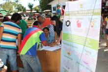 Distribution of Information Education and Communication Materials (IEC) during the Farmers Congress in San Miguel, ZDS.
