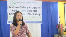 Ms. Yovina-Claire A. Pauig, resource person from ATI Central Office, presented and discussed the Techno Gabay Program.