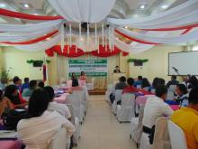 Dr. Luz Taposok serves as the guest speaker during the Island-Wide Congress for AFMech Stakeholders in Cebu