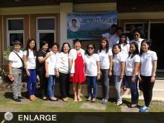 Director Luz Taposok poses with ATI_RTC 5 staff during his first visit to the region since her assumption to office.
