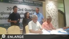 ATI-RTC 5 Center Vivien carable witnesses the signing of Memorandum of Understanding (MOU) among RAFEN members.