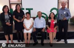 The awardees with ATI Director Luz Tapusok, Deputy Director Alfredo Aton & ATI-RTC 5 OIC Vivien Carable