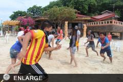 ATI staff during the team building activity in Occidental Mindoro