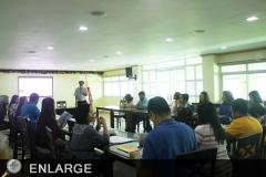 TCS II Rogelio Evangelista speaking during the harmonization workshop between ATI-RTC 1 and DA-RFO 1