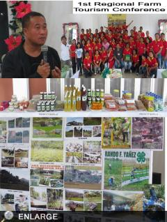 Costales Graces  1st Farm Tourism Conference in region 10