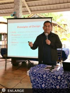 Dr. Regidor G. Gaboy stresses the importance of layout and design as integral part in communicating the corporate image of ATI.
