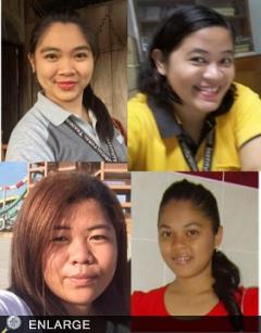 (L-R Clockwise) Moisa, Cheriemy, Cristine and Honey Lou