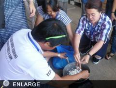 Calphos concoction activity during the training.