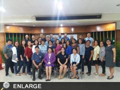 The participants with Dir. Luz A. Taposok during the National Updates on DA's Disaster Risk Reduction Policy Actions