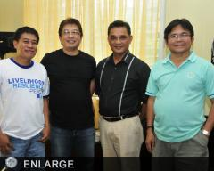 The Peace Orchestrators in Lanao; MAO Adelino Rico, Mayor Rommel Arnado, Dir. Asterio Saliot and Dr. Angelito Quirog