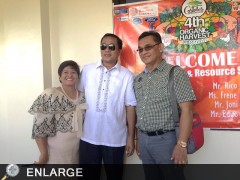 Director Asterio Saliot with Costales Nature Farms owners: Mr. Ronald Costales and wife Josie. Photo by Chelsea Lota