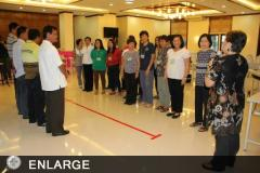 Ms. Maria Luz Roncesvalles facilitating a group exercise