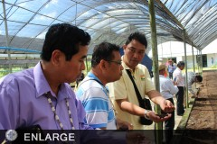 ASEAN farmer-leaders and agri extension officials learn more about Filipino farming during their visit at Kahariam Farms.
