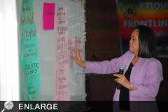 Ms. Bullas, RP on Etiquette Workshop for Frontliners (Photo by Darwin C. Bibit)