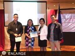 ATI-ISD Chief Antonieta J. Arceo receives her certificate of appreciation from DOLE-NRCO officials