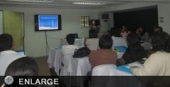 Facilitator reports on the updates of FBS in her municipality (photo by Karlene Grace Zuniga)