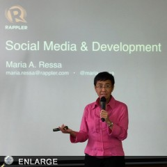 Rappler's Maria Ressa at the Social Media for Social Good Workshop. (Photo by Yovina-Claire Pauig)