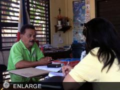 Ms.Pamela Mappala of ATI-ISD interviews Municipal Agriculture Officer of Borbon, Cebu